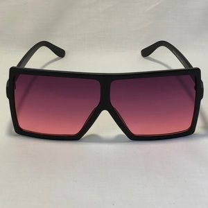 Other - Black/Purple Oversize Square Lens Sunglasses
